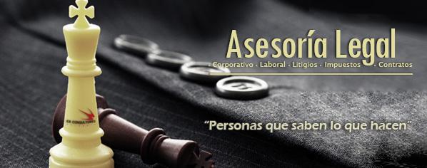 Asesoría legal - Corporativo - Laboral - Litigios - Impuestos - Contratos - Régimen cambiario