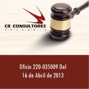 Oficio 220-035009