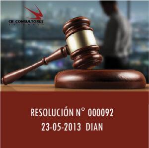 RESOLUCIÓN N° 000092