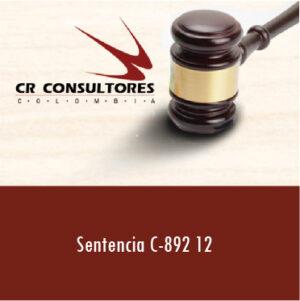 Sentencia C-892 12