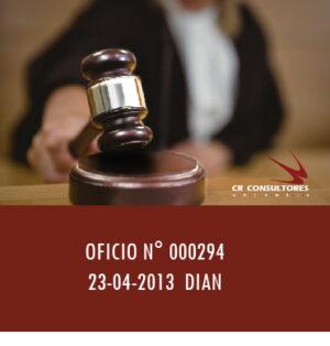 OFICIO N° 000294