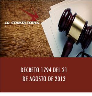 DECRETO 1794 DEL 21 DE AGOSTO DE 2013