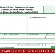 DECLARACIÓN DE ACTIVOS EN EL EXTERIOR – ASPECTOS SUSTANCIALES