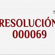 RESOLUCIÓN 000069