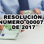 RESOLUCIÓN NÚMERO 000072 DE 2017