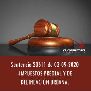 Sentencia 20611 de 03-09-2020 – IMPUESTOS PREDIAL Y DE DELINEACIÓN URBANA.