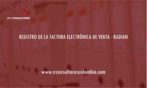 REGISTRO DE LA FACTURA ELECTRÓNICA DE VENTA – RADIAN